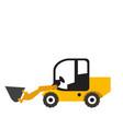 wheel loader vehicle icon vector image