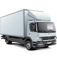 white box truck vector image vector image