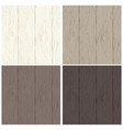 wood texture background in four colors for design vector image