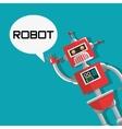 Robot design Technology concept Colorful vector image