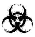 biohazard symbol drawing vector image