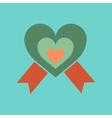 flat icon on stylish background rainbow heart vector image