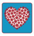 Heart floral design vector image