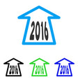 2016 ahead arrow flat icon vector image vector image