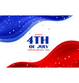 4th july wave style american holiday background vector image vector image