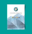 abstract report cover 6 vector image vector image