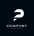 Alphabet letter P logo icon design vector image vector image