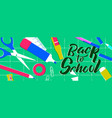 back to school web banner class supplies vector image