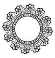 Beautiful deco floral circle vector image vector image