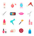 beauty salon set of cartoon icons white vector image vector image