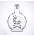 bottle poison vector image vector image