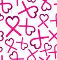 Breast cancer love ribbon background for support vector image vector image