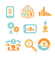 business economic infographics icons set statistic vector image