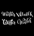calligraphic set handdrawn lettering winter vector image