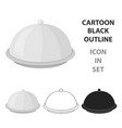 cloche icon in cartoon style isolated on white vector image vector image