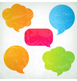 Colorful Vintage Speech Bubbles vector image