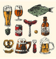 craft beer and pub sketch vector image vector image