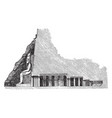 cross section of the great temple at abu simbel vector image vector image