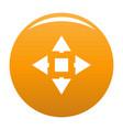 cursor displacement icon orange vector image vector image