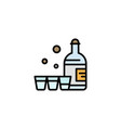 drink bottle glass ireland business logo template vector image