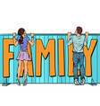 family plans loving couple young man and woman vector image