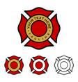 Fire department emblem design eps 10