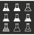 Flask icon set vector image vector image