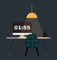 Flat of home office workplace vector image vector image