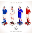 football 03 people isometric vector image vector image