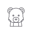 funny bear line icon concept funny bear vector image vector image