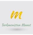 Golden Symbol of Turkmenistan Manat vector image vector image
