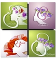 Greeting Card Beautiful young woman vector image