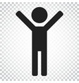 happy man with hands up icon people happy sign vector image vector image
