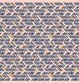 herringbone stitches blue and pink hand drawn vector image vector image