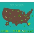 High detailed United States map ecology eco icons vector image vector image