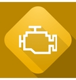 icon of Engine with a long shadow vector image vector image