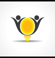 icon of happy people light bulb stock vect vector image