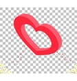 Isomitric 3d Heart Valentine Day Design vector image vector image