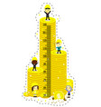 kids height chart with high coin tower vector image