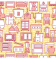 kitchen equipment seamless pattern in line style vector image
