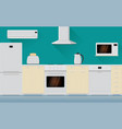 kitchen interior with home appliances vector image