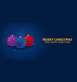 merry christmas and happy new year snowflakes vector image vector image