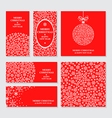 merry flaers red vector image vector image