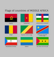 middle africa silk flag set vector image vector image