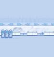 modern airport terminal corridor flat vector image vector image
