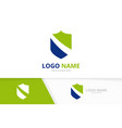modern shield graphic logo security vector image