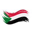 national flag of sudan designed using brush vector image vector image