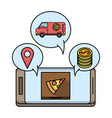 online food order and delivery vector image vector image