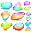 Opaque multicolored glass shapes vector image vector image