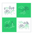outdoor cycling and camping riding bicycle vector image vector image